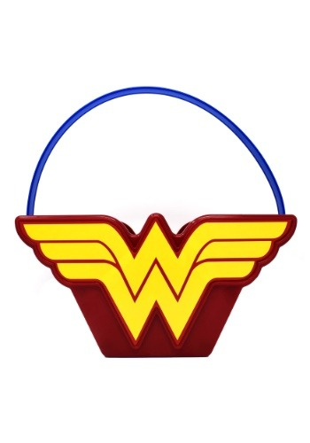 Wonder Woman Plastic Trick or Treat Bucket
