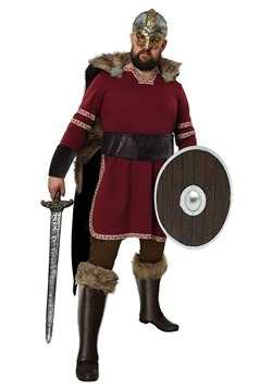 Men's Plus Size Burgundy Viking