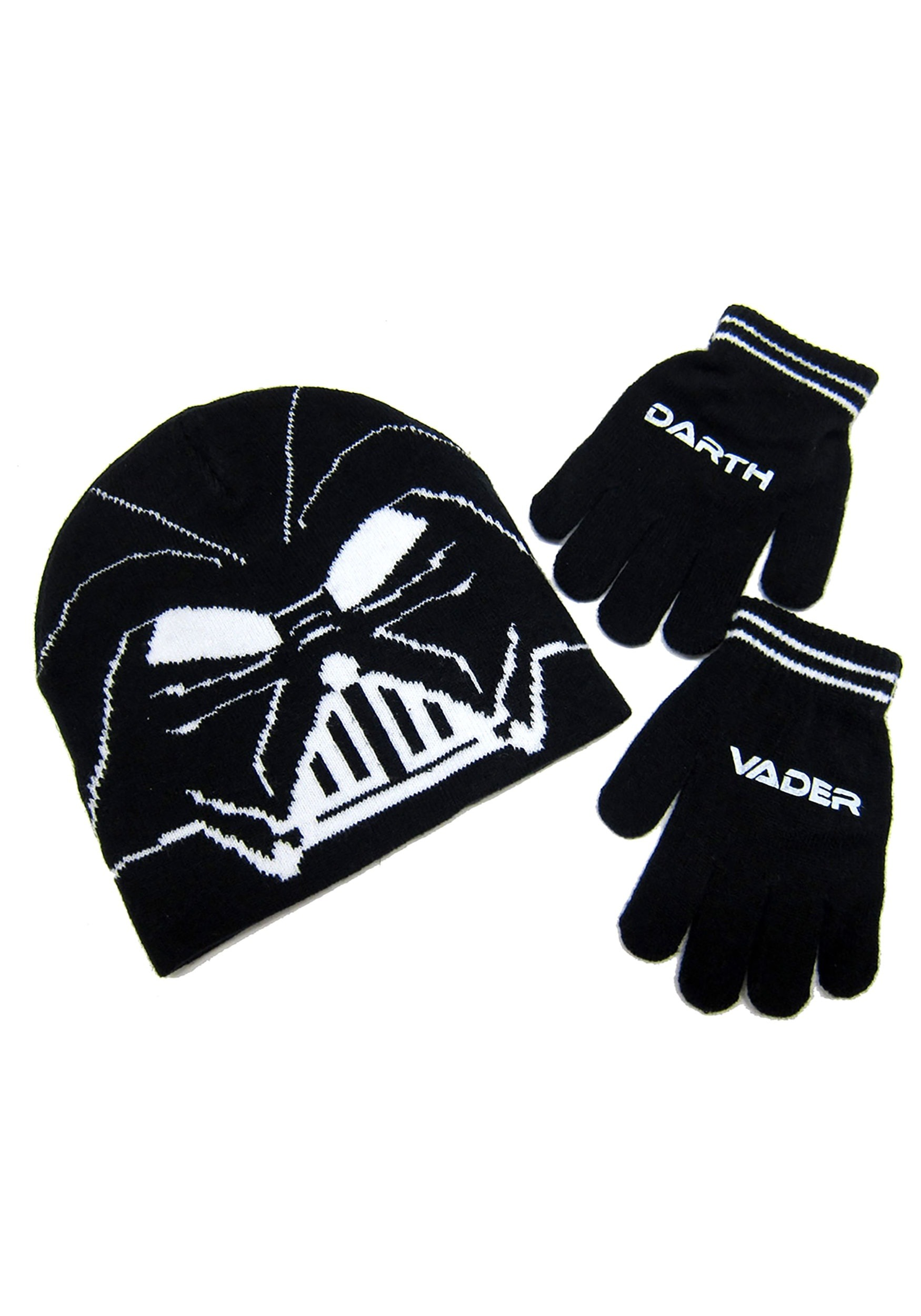 INOpets.com Anything for Pets Parents & Their Pets Darth Vader Kids Knit Beanie & Gloves Set from Star Wars
