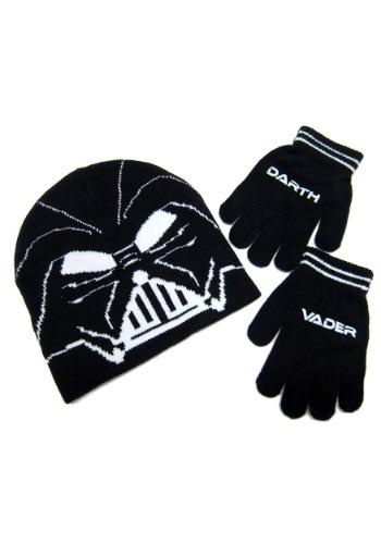 Star Wars Darth Vader Kids Knit Beanie & Gloves Set