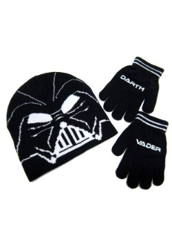 Star Wars Darth Vader Kids Knit Beanie & Gloves Set