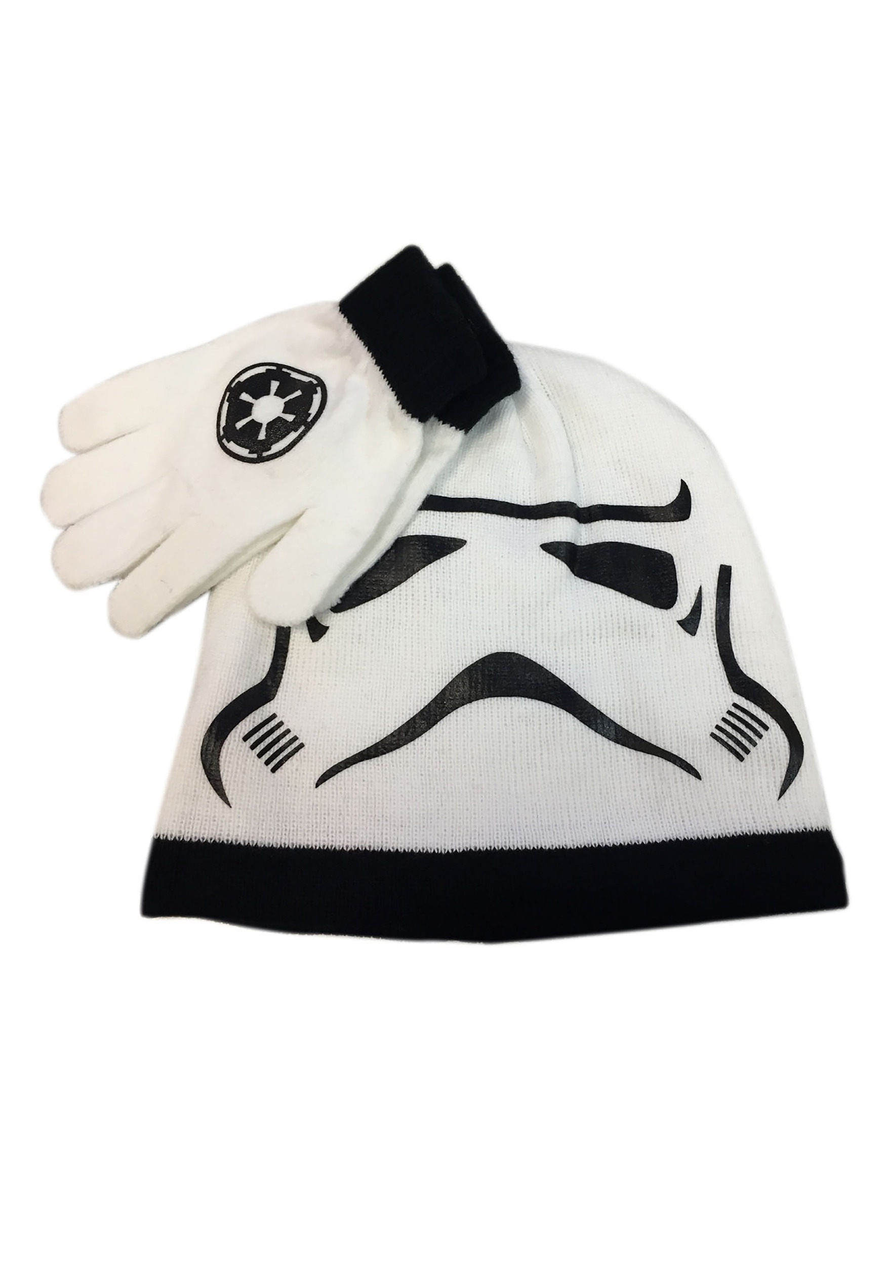 Kids Stormtrooper Big Face Knit Hat & Gloves Set
