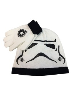 Stormtrooper Kids Big Face Knit Beanie & Gloves Set