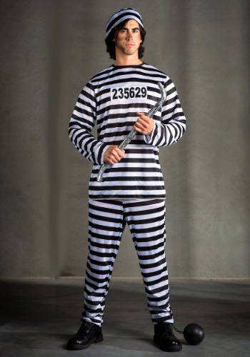 Plus Size Men's Prisoner Costume