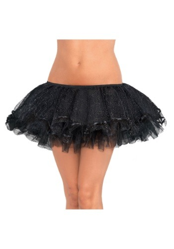 Women's Plus Size Black Shimmer Tutu