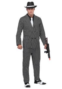 Wide Stripe Plus Size Gangster Costume
