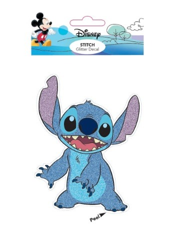 Lilo and Stitch Stitch 4x8 Glitter Decal