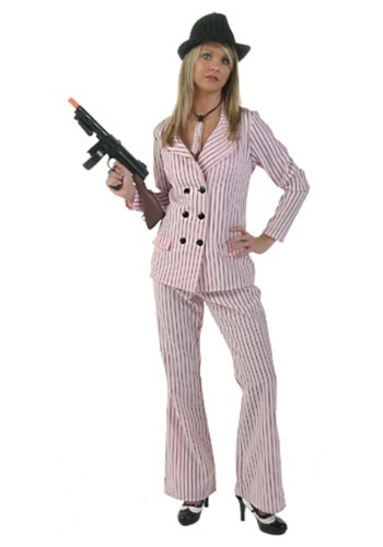 Plus Size Pink Gangster Moll Costume