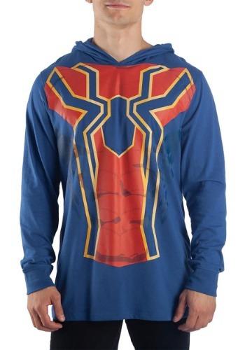 Men's Iron Spider Cosplay Light Weight Costume Hoodie