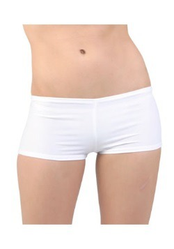 Sexy White Lycra Hot Pants