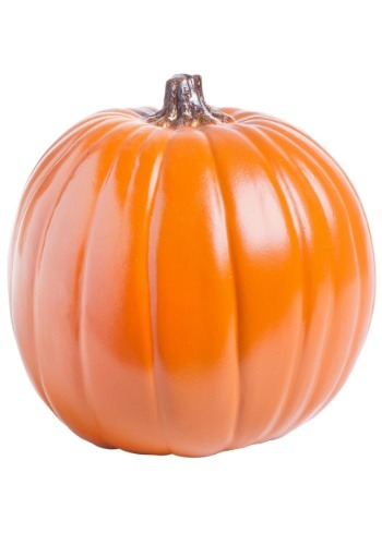 "Carvable 9"" Artificial Orange Pumpkin"