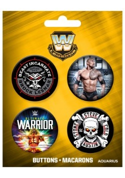 WWE Legends 4-Pack Button Set