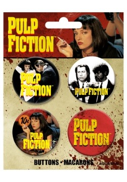 Pulp Fiction 4-Pack Button Set