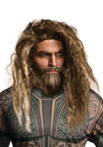 Adult's Aquaman Beard and Wig Set