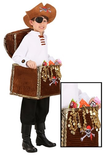 Child Pirate Chest Candy Catcher Costume