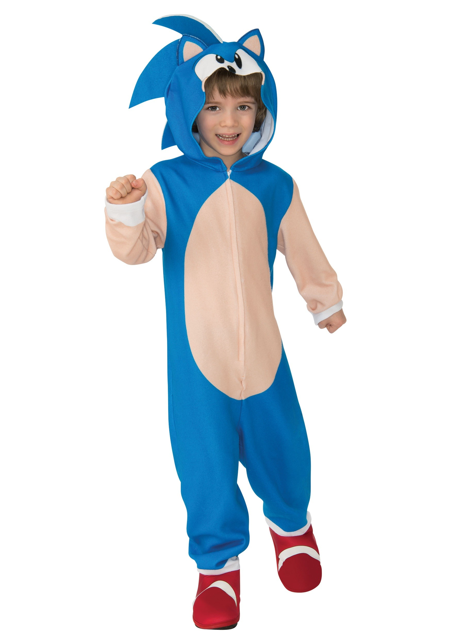 Boy's Sonic The Hedgehog Hooded Costume