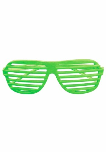 Neon Green Slot Glasses