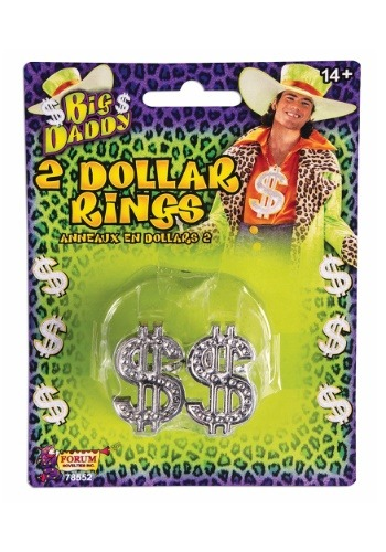 Pimp's Dollar Sign Rings
