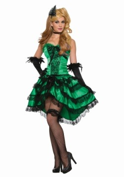 Women's Emerald Saloon Girl Costume