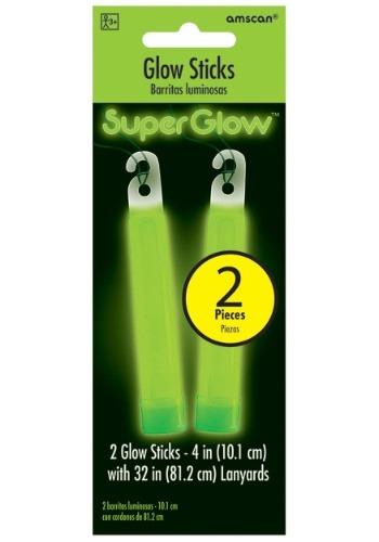 "Green Glowsticks - 4"" Pack of 2"