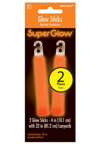 "Orange Glowsticks - 4"" Pack of 2"
