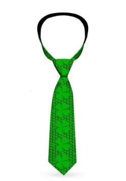 Green Saint Patrick's Day Clovers Necktie1