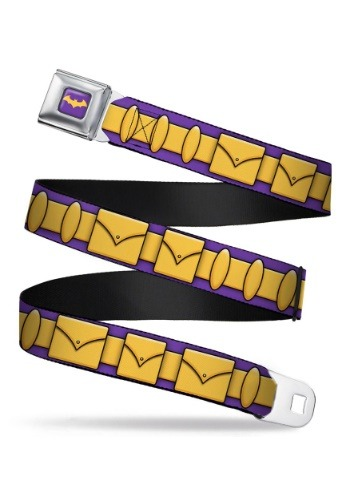Purple/Gold Batgirl Utility Belt Seatbelt Buckle Belt