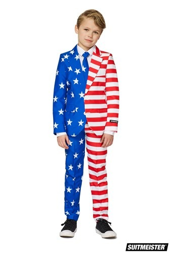 Boys USA Flag Suitmiester Suit