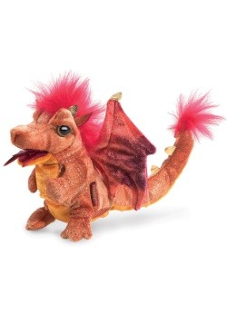 "6"" Folkmanis Fire Dragon Puppet"
