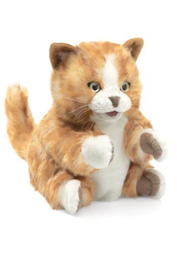 Folkmanis 8 Inch Orange Tabby Kitten Puppet