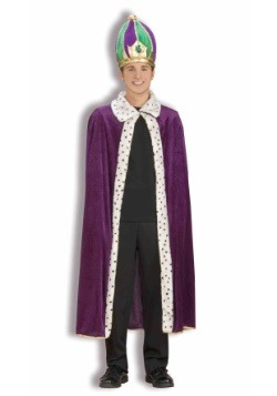 Mardi Gras Robe and Crown Set