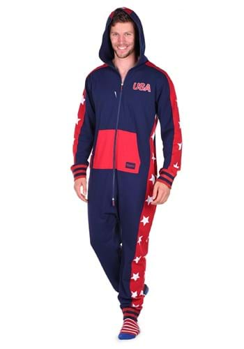 Tipsy Elves Men's USA Stars Jumpsuit