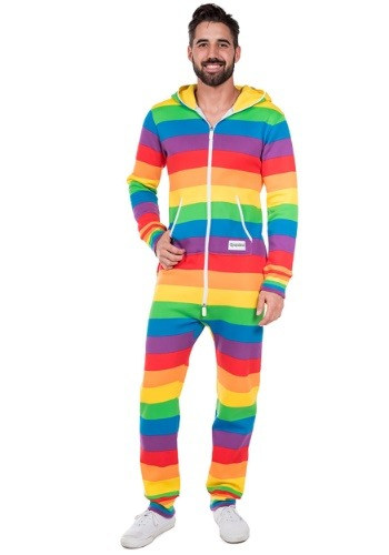 Tipsy Elves Men's Rainbow Jumpsuit