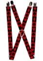 "Alice in Wonderland Card Suit 1"" Suspenders"