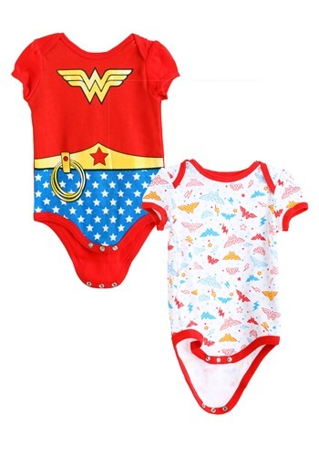 Girls Wonder Woman Newborn Onesie 2-Pack main