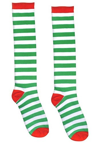 Red and Green Striped Adult Socks