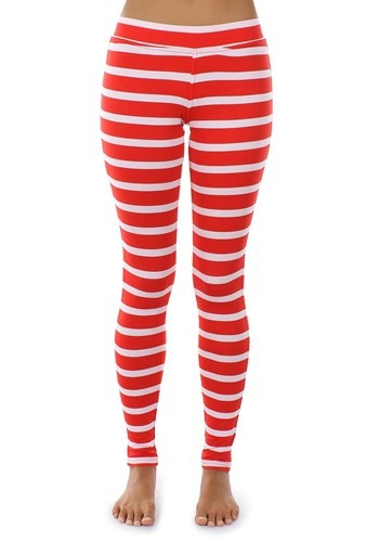 Tipsy Elves Women's Red Stripe Leggings