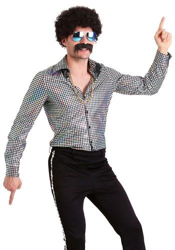 Men's Disco Ball Plus Size Shirt