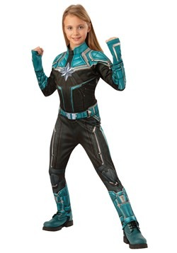 Captain Marvel Kree Suit Deluxe Girls Costume