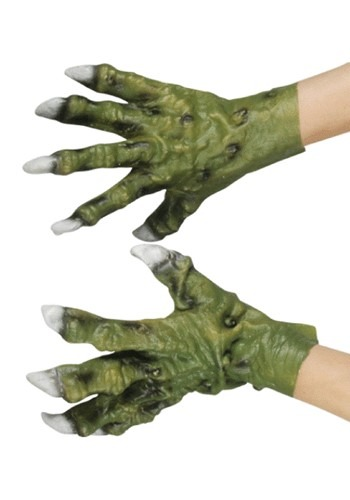 Green Latex Monster Hands