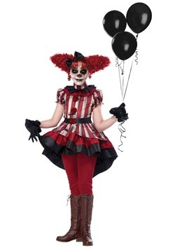 Girl's Wicked Clown Costume