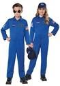 NASA Child Blue Jumpsuit Costume Alt 2