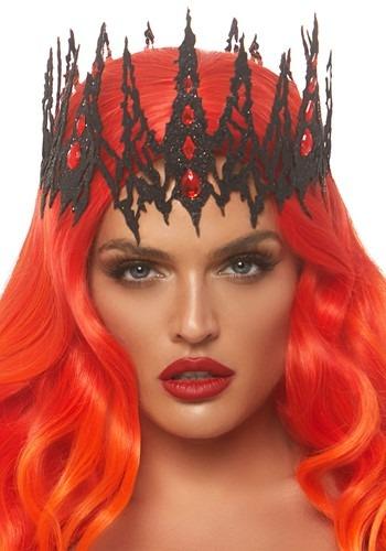 Glitter Diecut Black Jewel Crown