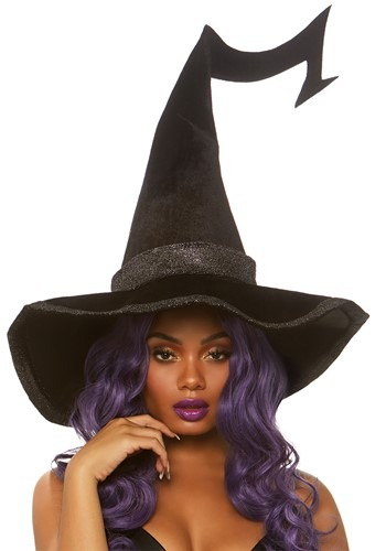 Bewitched Velvet Witch Hat with Brim