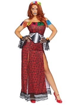 Womens Deluxe Day of the Dead Beauty Costume