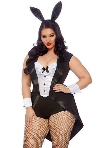 Women's Plus Play Time Bunny Costume