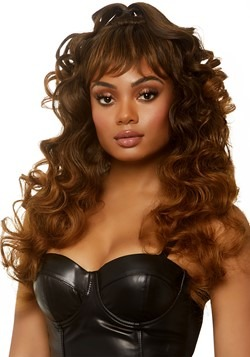 Women's Brown Curly Half Up Pony Tale Wig