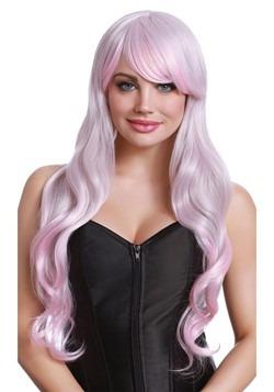 Pink/Gray Long Wavy Wig