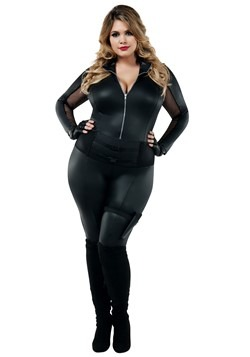 Women's Secret Agent Plus Costume