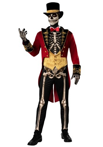 Men's Skeleton Ringmaster Costume
